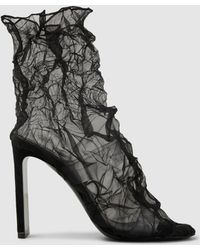Nicholas Kirkwood - D'arcy Crinkled Organza And Pvc Ankle Boots - Lyst
