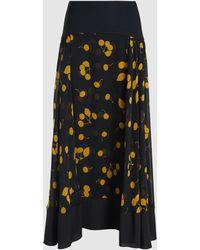 3.1 Phillip Lim - Cerise Burnout Layered Maxi Skirt - Lyst