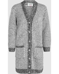Lanvin - Metallic Tweed Cardigan - Lyst