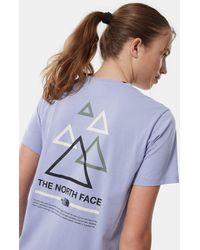 The North Face T-shirt Boyfriend Triangle - Multicolore
