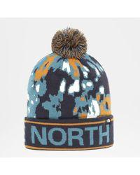 The North Face Ski Tuke Mütze Aviator Abstract Ikat Print - Blau