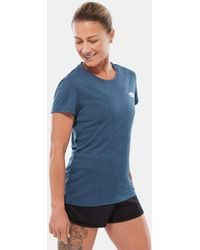 The North Face Reaxion Ampere T-shirt Für Wing Teal Heather - Blau