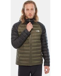 The North Face Men's Trevail Packable Hoodie New Taupe Green/tnf - Black