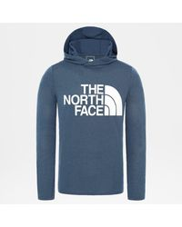 The North Face Men's 24/7 Big Logo Hoodie Wing Teal Heather - Blue