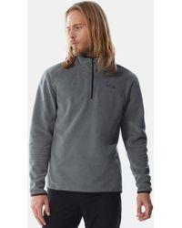 The North Face Men's 100 Glacier Quarter Zip Fleece Pullover Tnf Medium Heather - Grey