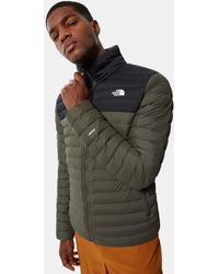 The North Face Men's Stretch Down Jacket New Taupe Green/tnf - Black