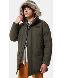 The North Face Men's New Peak Down Parka New Taupe - Green