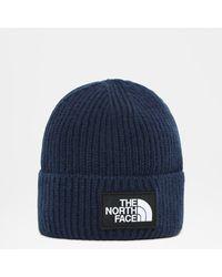 The North Face Omgeslagen Beanie Met Vierkant Tnf-logo Tnf - Blauw