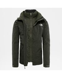 The North Face Men's Mountain Zip-in Triclimate® Down Jacket New Taupe Dark Heather - Green