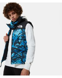 The North Face Bodywarmer Met Camouflageprint - Blauw