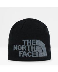 The North Face Tweezijdige Highline-beanie Tnf /tnf Medium Grey Heather - Zwart