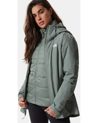 The North Face - Women's Inlux Triclimate Jacket Agave Green Heather - Lyst