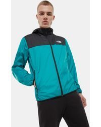 The North Face Men's Cyclone Ii Hooded Jacket Tnf /fanfare Green - Black