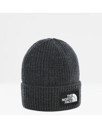 The North Face Tnf Logo Box Beanie Mit Umschlag Tnf Medium Heather - Grau
