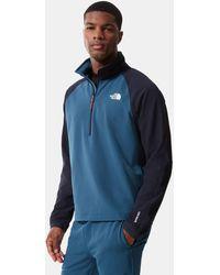 The North Face Sweat polaire col zippé tekware® - Bleu