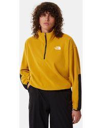 The North Face Tka Kataka 1/4 Zip Fleece - Yellow