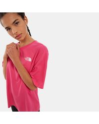 The North Face Women's Bf Simple Dome T-shirt Mr. - Pink