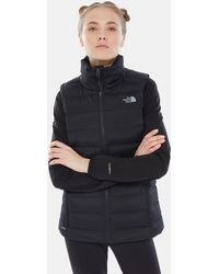 The North Face Stretch Vest Met Dons Tnf - Zwart