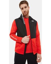 The North Face Men's Train N Logo Overlay Jacket Fiery Red/tnf - Black