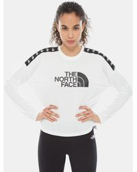 The North Face Cropped Train N Logo T-shirt - Wit