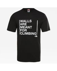 The North Face Men's Walls Are For Climbing T-shirt Tnf - Black