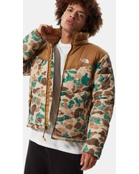 The North Face Saikuru Jacke Für Hawthorne Khaki Distressed Duck Camo Print/utility - Braun