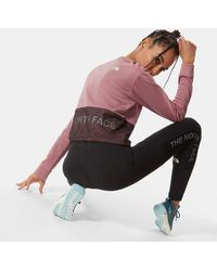 The North Face Cropped Train N Logo-trui - Roze