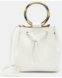Theory - Drawstring Bag With Wax Cord Hoop In Soft Leather - Lyst