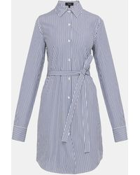 Theory - Striped Clean Shirt Dress - Lyst