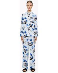 Theory - Silk Floral Pajama Set - Lyst