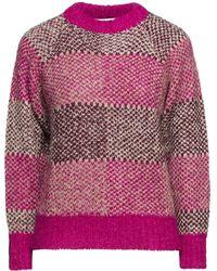 Antik Batik Arthur Jacquard-knit Alpaca-blend Sweater - Purple