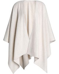 Rag & Bone - Brushed Striped Merino Wool Cape - Lyst