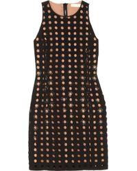 MICHAEL Michael Kors - Bead-embellished Laser-cut Crepe Dress - Lyst
