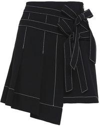 Cinq À Sept Ingrid Crepe Mini Skirt Black