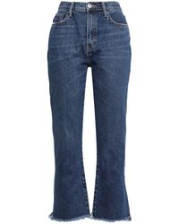 Current/Elliott The High Waist Kick Distressed High-rise Kick-flare Jeans - Blue