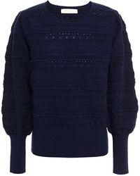Goat Jocasta Pointelle-knit Sweater - Blue