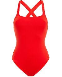 Calvin Klein Open-back Swimsuit - Red