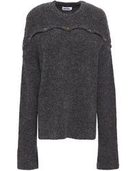 Each x Other Button-detailed Mélange Wool-blend Jumper - Grey