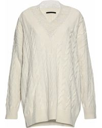 Alexander Wang - Lace-trimmed Cotton And Wool-blend Sweater - Lyst