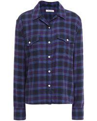 Rag & Bone May hemd aus flanell mit karomuster - Blau