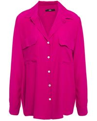 7 For All Mankind 7 For All Kind Crepe Shirt Fuchsia - Pink