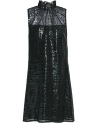 Goat - Ruffle-trimmed Sequined Net Dress - Lyst