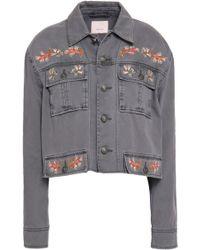 Cinq À Sept Folk Canyon Denim Jacket - Multicolour