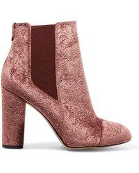 180364d28 Sam Edelman - Woman Case Embossed Velvet Ankle Boots Antique Rose - Lyst