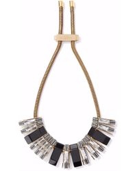 Lanvin - Gold-tone, Crystal And Resin Necklace - Lyst