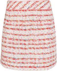 Boutique Moschino - Cotton-blend Bouclé Mini Skirt - Lyst