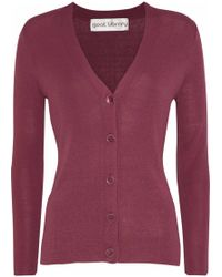 Goat Library - Ribbed-knit Cardigan - Lyst