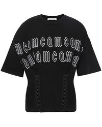McQ Appliquéd Embroidered French Cotton-terry T-shirt Black