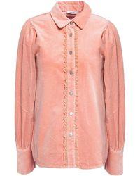 Ganni Corduroy Shirt - Pink