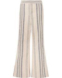 Monse Striped Cotton And Linen-blend Wide-leg Trousers - Multicolour
